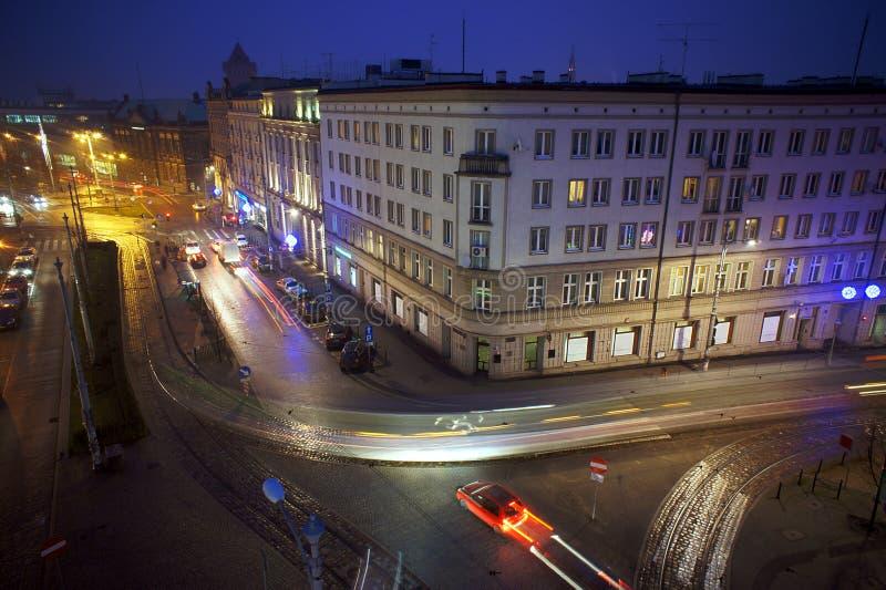 Traffico di notte immagini stock libere da diritti