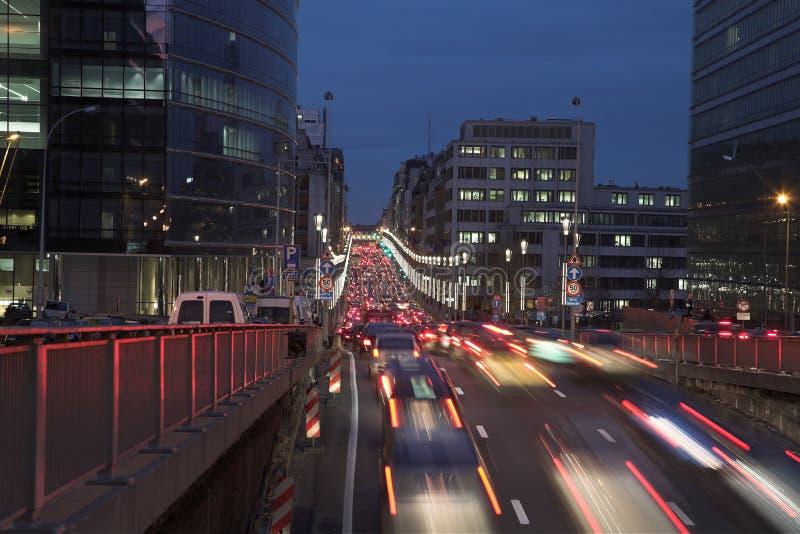 Traffico di notte fotografie stock libere da diritti