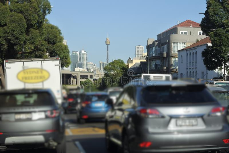 Traffico di ora di punta in Sydney New South Wales Australia immagine stock libera da diritti