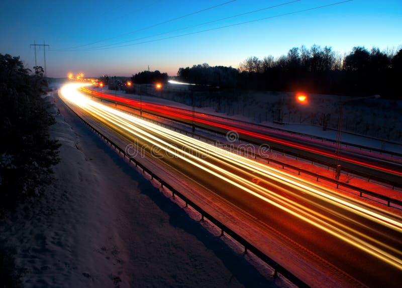 Traffico di sera immagini stock