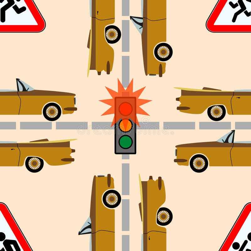 Traffico di sicurezza sulla strada royalty illustrazione gratis