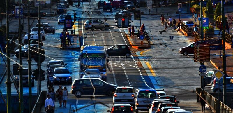 Traffico di Torino immagine stock