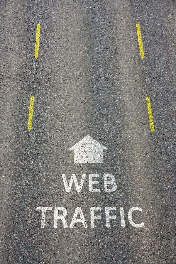Traffico di Web immagini stock