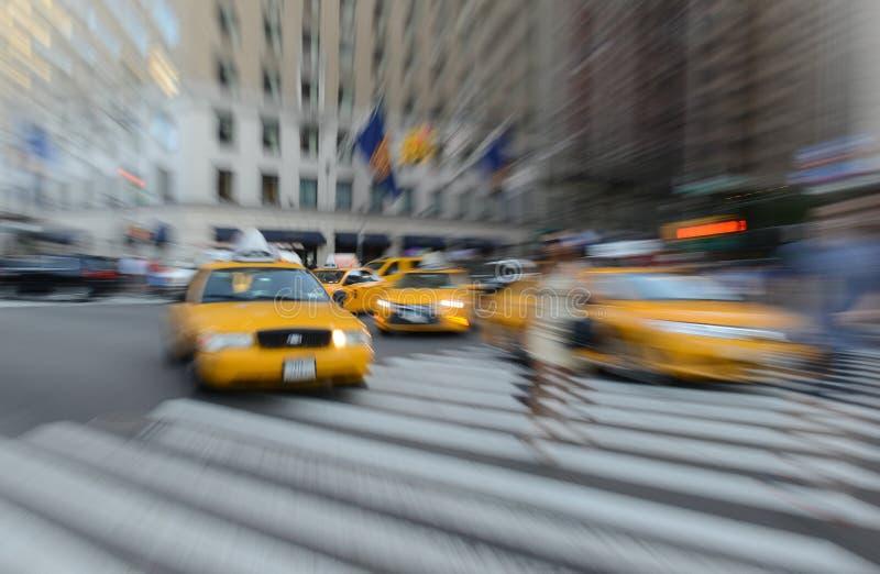 Traffico espressamente vago in NYC fotografie stock libere da diritti