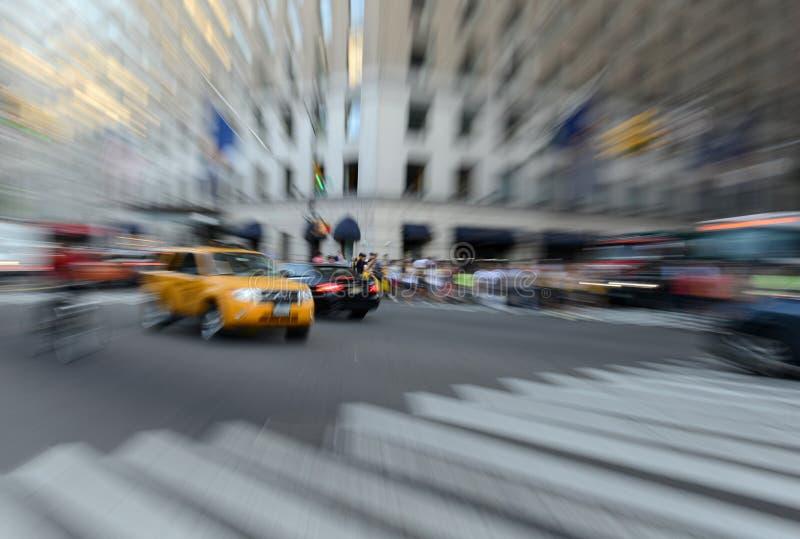 Traffico espressamente vago in NYC fotografia stock libera da diritti
