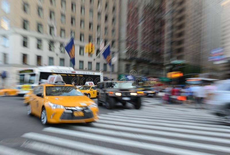 Traffico espressamente vago in NYC fotografia stock