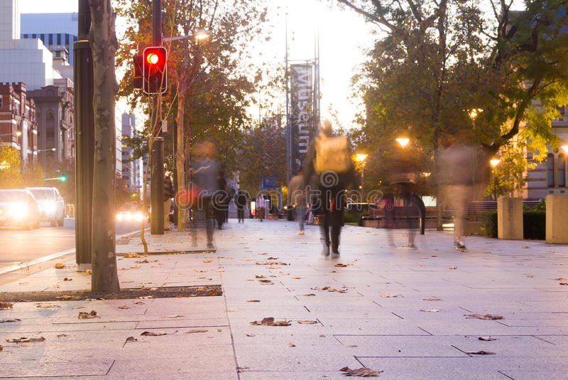Traffico pedonale sul terrazzo del nord, Adelaide immagine stock libera da diritti