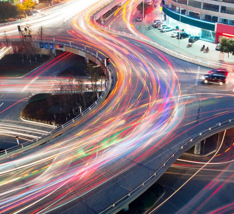 Traffico sulla giunzione fotografia stock libera da diritti