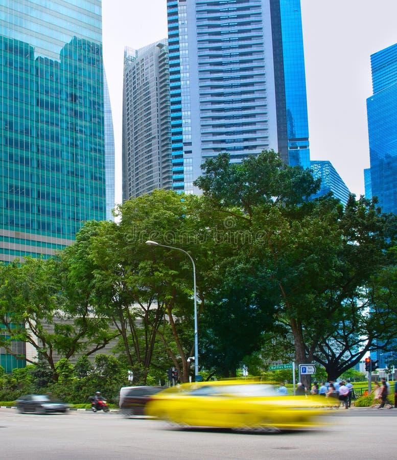 Traffico veloce del mosso Singapore immagine stock libera da diritti