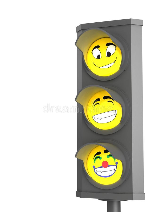 Download Trafic light with emotion stock illustration. Image of equipment - 11838012