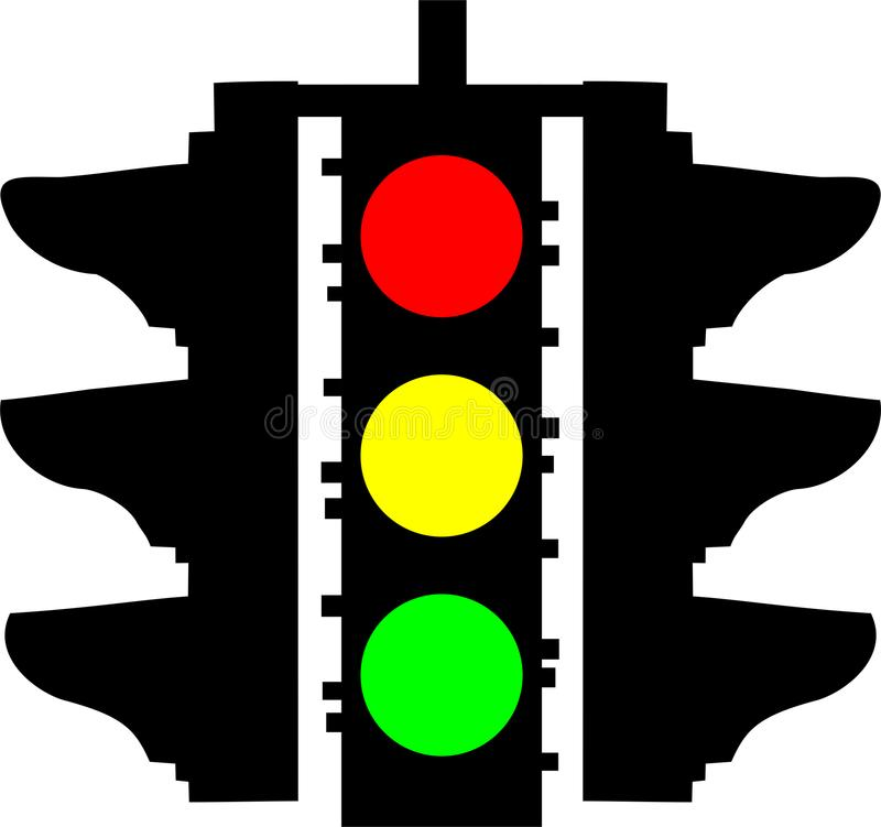 Trafic Lights and signs. Vector illustration bakcground vector illustration
