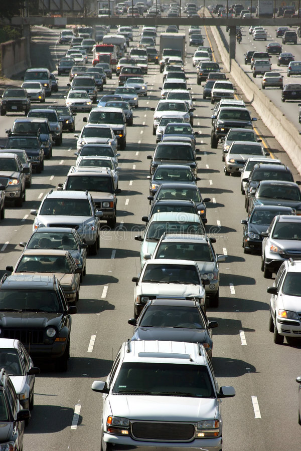 trafik för angeles driftstopplos royaltyfri fotografi