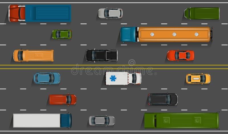 trafik för bildriftstoppväg vektor illustrationer