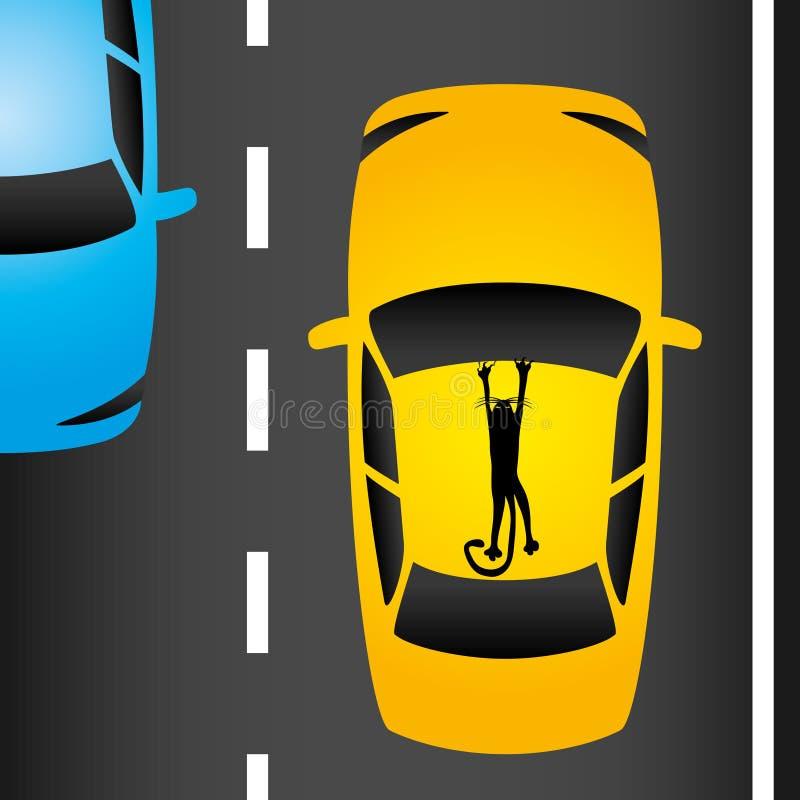 trafik för bildriftstoppväg stock illustrationer