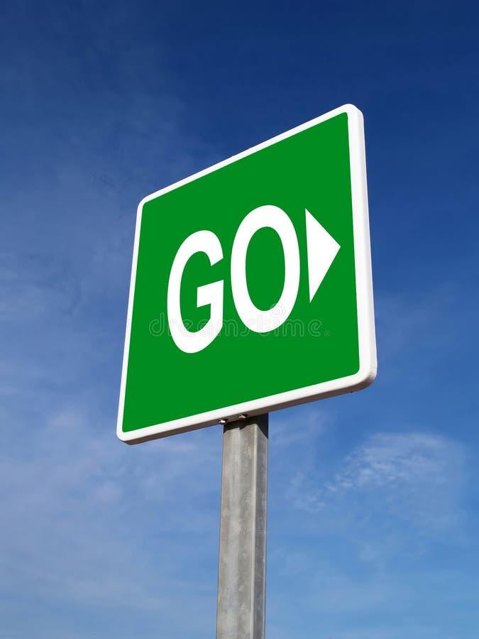 trafik för grön signalering royaltyfri bild