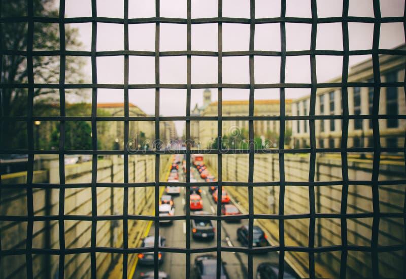 Trafik i D C arkivbilder