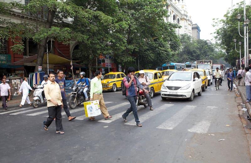Trafik i Kolkata, Indien royaltyfri foto