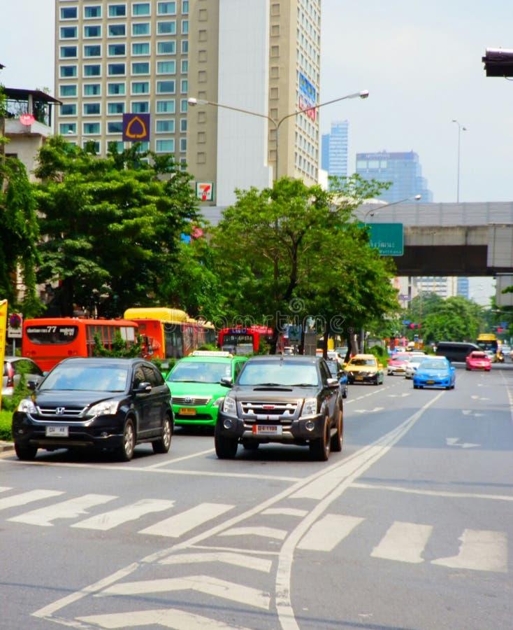 Trafik i Thailand arkivfoto