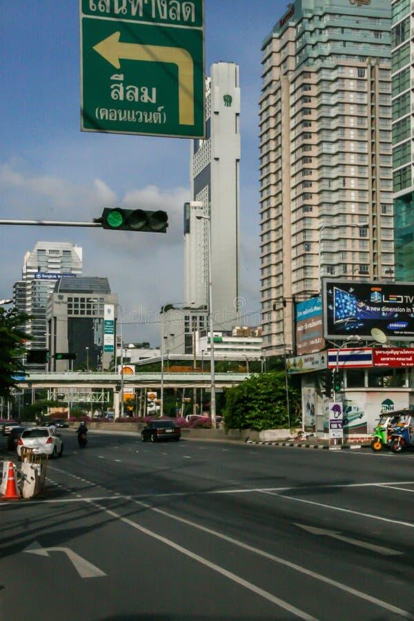 Trafik på Bangkoks gator Resa runt Asien arkivfoto