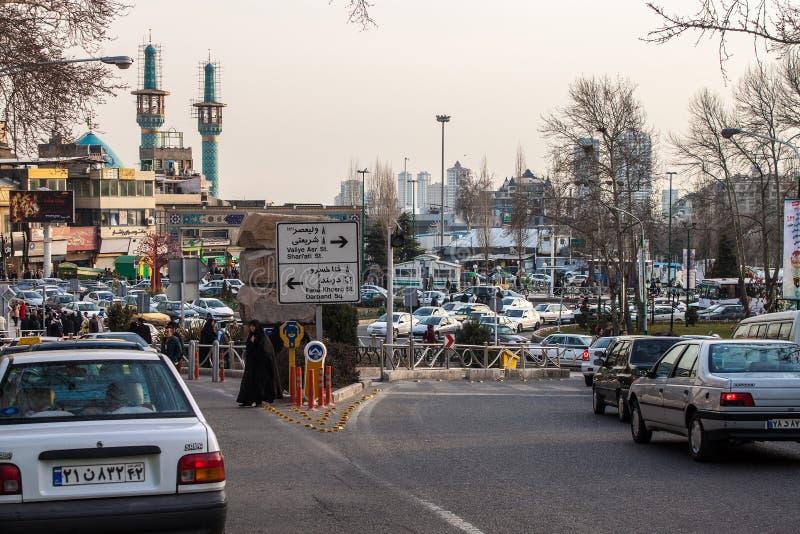 Trafik på den Tarjish fyrkanten fotografering för bildbyråer