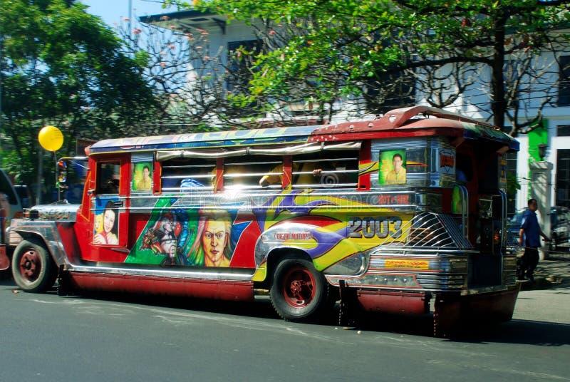 Trafikera av Manila arkivfoto