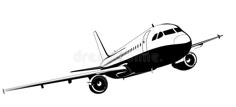 trafikflygplanvektor stock illustrationer
