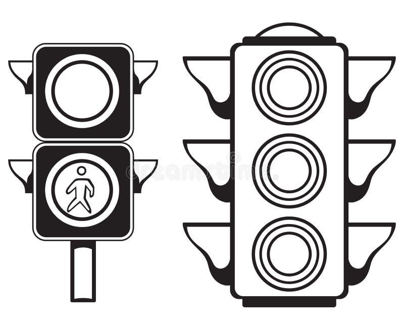 Trafikljus royaltyfri illustrationer
