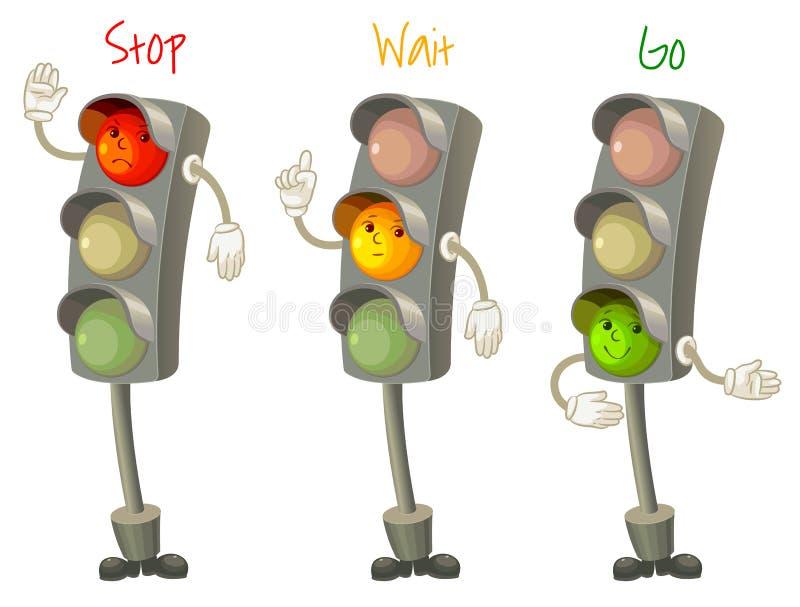 Trafikljus vektor illustrationer