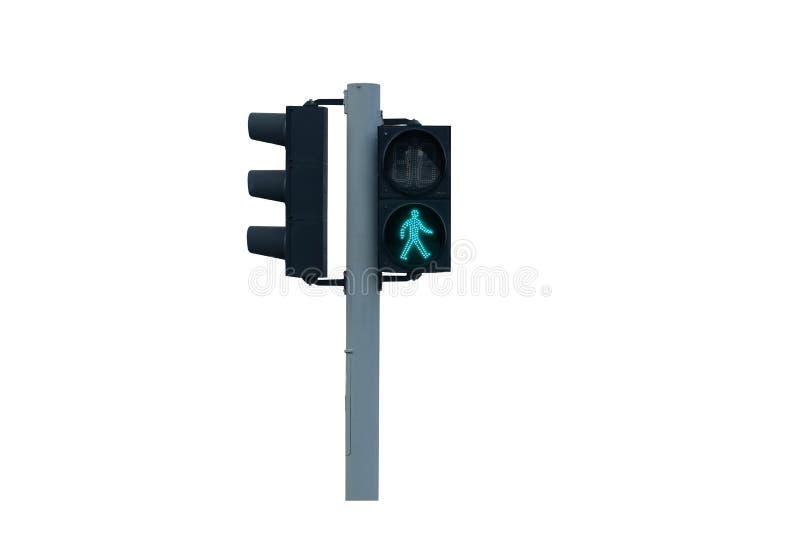 Trafikljus för går royaltyfria bilder