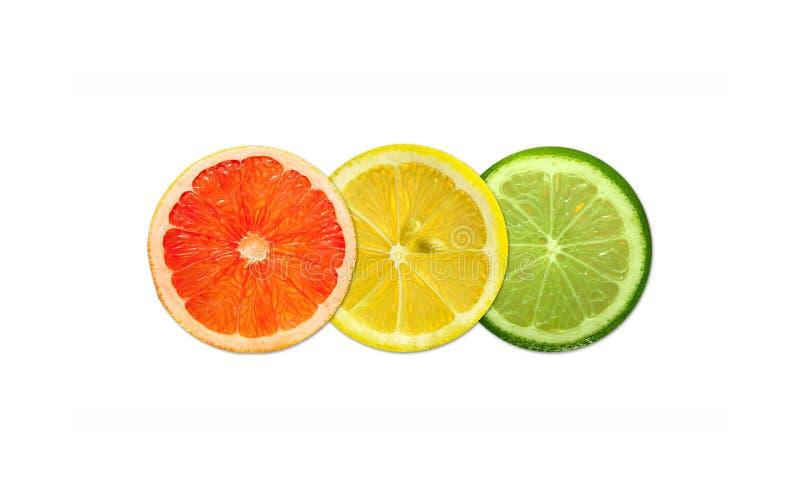 Trafikljus från limefrukt, grapefrukt, apelsin royaltyfria foton