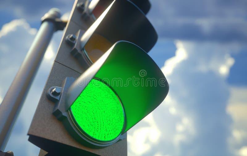 Trafikljus - gräsplan fotografering för bildbyråer