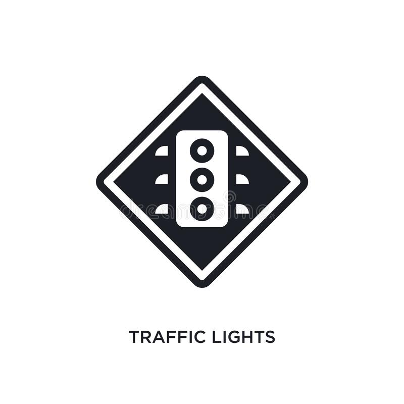 trafikljus isolerad symbol enkel beståndsdelillustration från symboler för begrepp för trafiktecken redigerbart logotecken för tr royaltyfri illustrationer