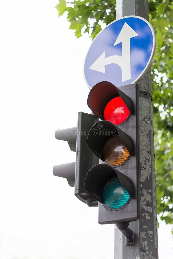 Trafikljus - stopptecken royaltyfri fotografi