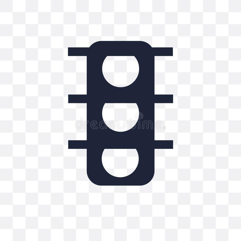 Trafikljus undertecknar den genomskinliga symbolen Trafikljus undertecknar symbol vektor illustrationer
