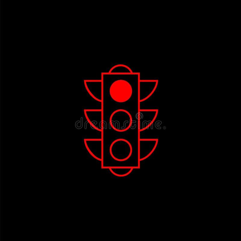 Trafikljuslinje symbol, stoppljus och navigering vektor illustrationer