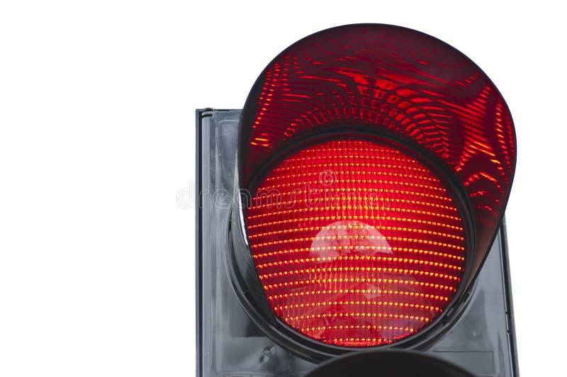 Trafikljussignaleringen visar rött ljus royaltyfria bilder