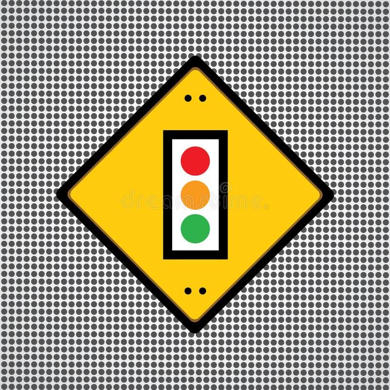 Trafikljussymbol vektor illustrationer
