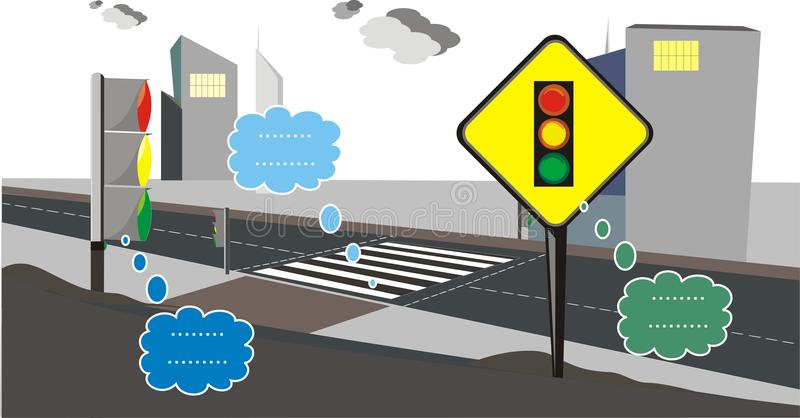 Trafikljustecken 2 vektor illustrationer