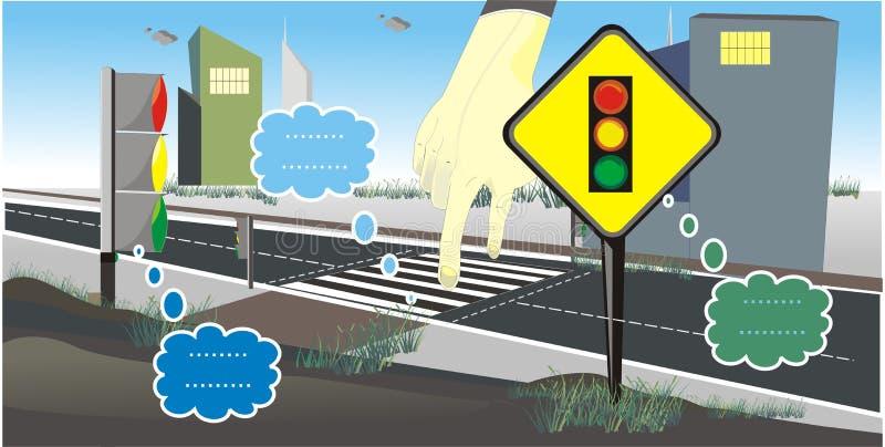 Trafikljusteckenvektor vektor illustrationer