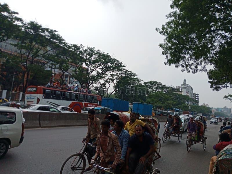 Trafikstockning av Bangladesh arkivfoto