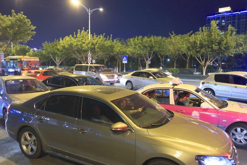 Download Trafikstockning I Natten Redaktionell Foto - Bild: 34153065