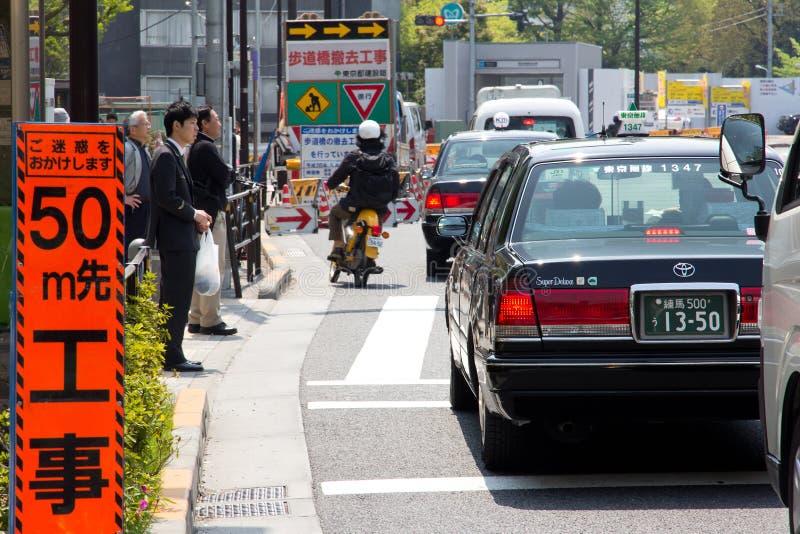 Trafikstockning i tokyo Japan arkivfoton
