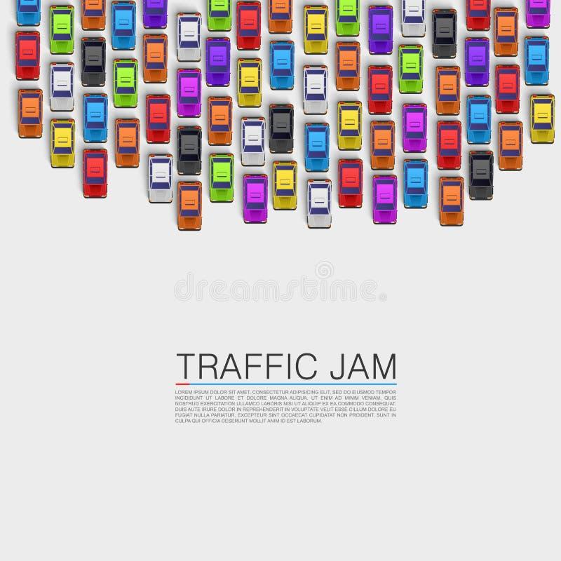 Trafikstockning på vägen vektor illustrationer