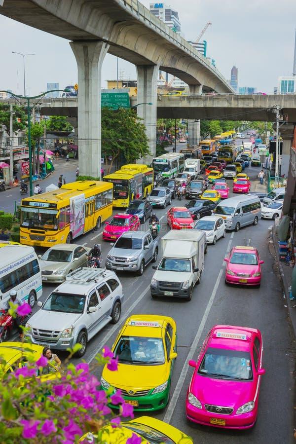 Trafikstockningar bangkok arkivbilder