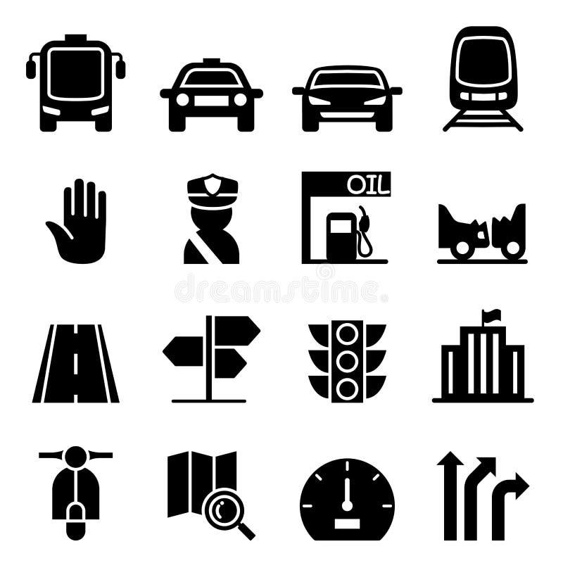 Trafiksymbol vektor illustrationer