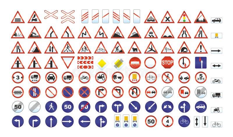 Trafiktecken royaltyfri illustrationer