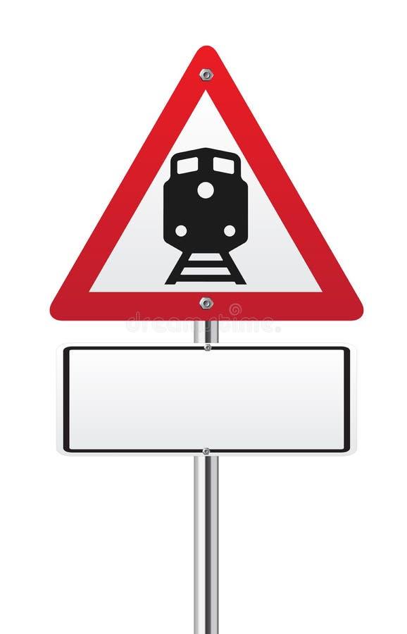 Trafiktecken för järnväg jämn korsning stock illustrationer