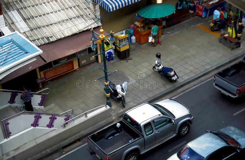 Trafique en las calles de Bangkok imágenes de archivo libres de regalías