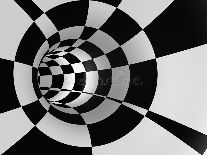 Traforo Checkered astratto di velocità illustrazione vettoriale