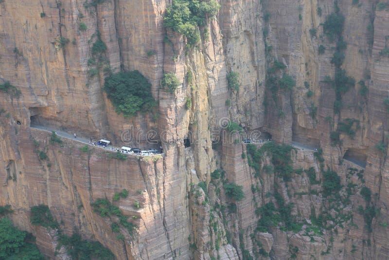 Traforo del Guoliang nella provincia di Henan della Cina immagini stock libere da diritti